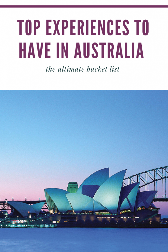 Australia's Top Experiences bucketlist guide
