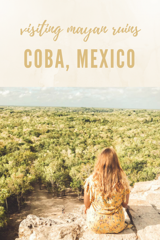 Guide to visiting and climbing the mayan ruins in Coba Mexico. Coba Ruins Guide