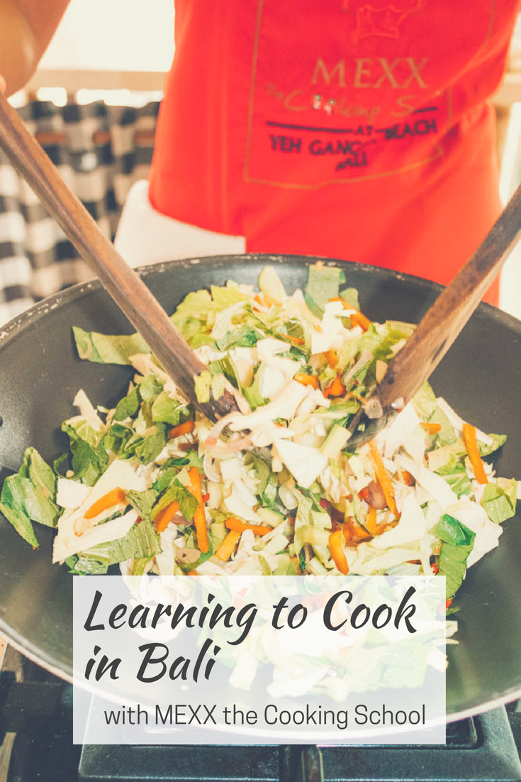 Earth Below Girls learning to cook in Bali with cookly MEXX the cooking school