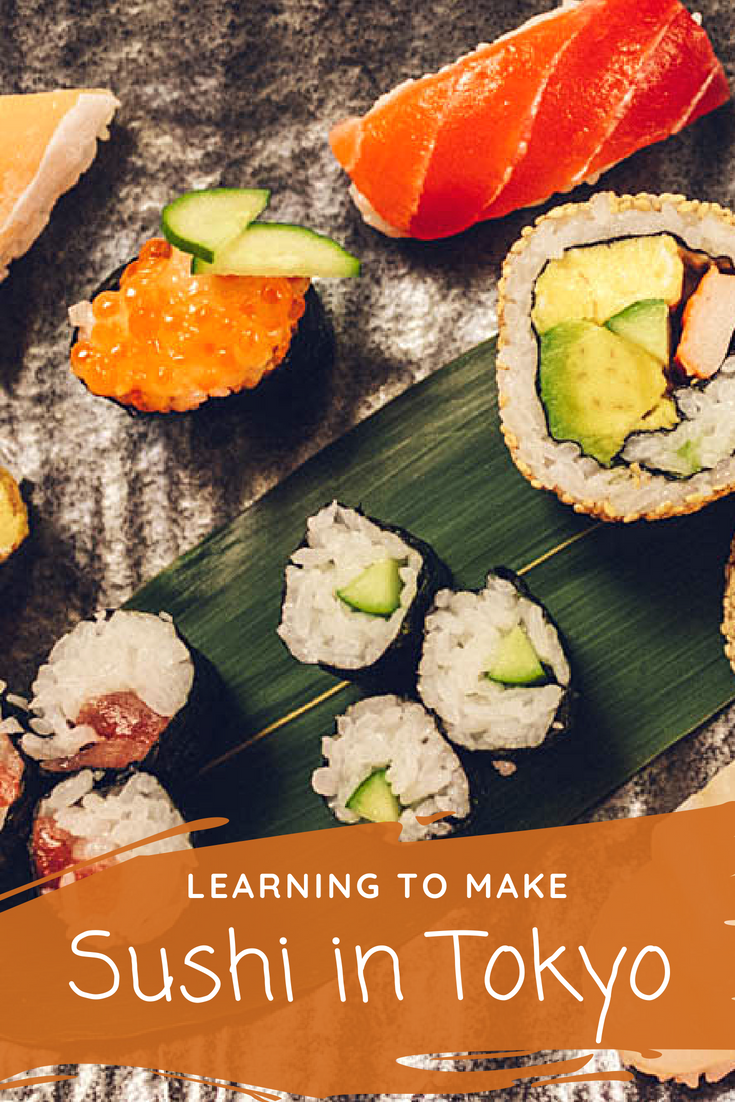 Learning to make sushi in Tokyo Japan with Cookly Review