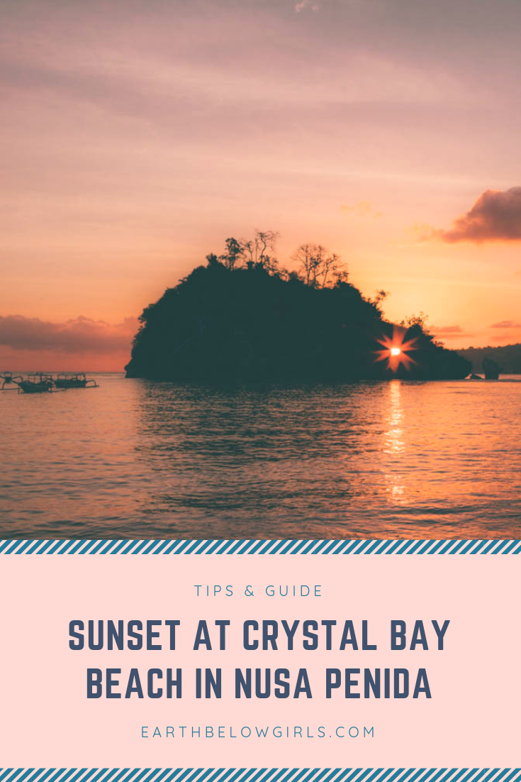Sunset at Crystal Bay Beach in Nusa Penida