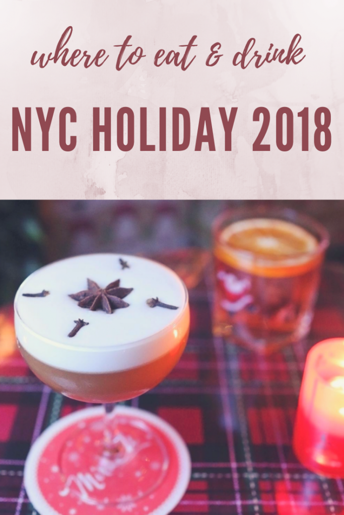 where to eat and drink NYC holiday 2018