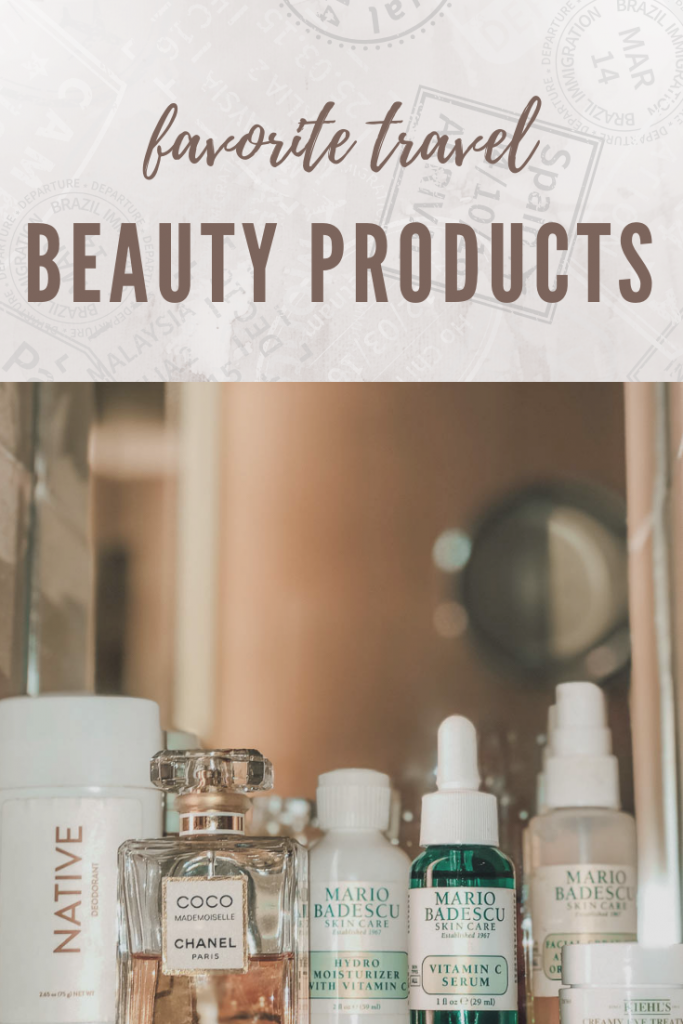 Beauty travel beauty products